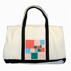 Simple Perfect Squares Squares Order Two Tone Tote Bag by Mariart