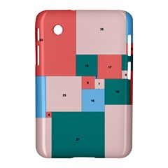 Simple Perfect Squares Squares Order Samsung Galaxy Tab 2 (7 ) P3100 Hardshell Case  by Mariart