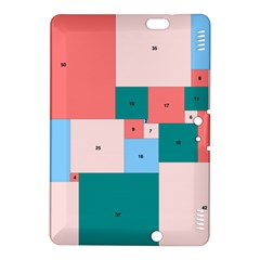 Simple Perfect Squares Squares Order Kindle Fire Hdx 8 9  Hardshell Case by Mariart