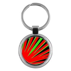 Rays Light Chevron Red Green Black Key Chains (round)  by Mariart