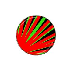 Rays Light Chevron Red Green Black Hat Clip Ball Marker (4 Pack) by Mariart
