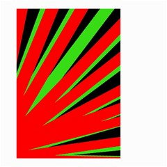 Rays Light Chevron Red Green Black Small Garden Flag (two Sides) by Mariart