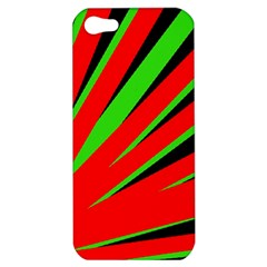 Rays Light Chevron Red Green Black Apple Iphone 5 Hardshell Case by Mariart
