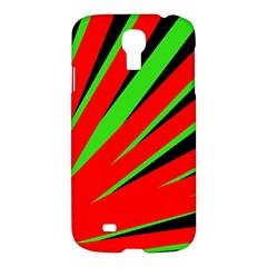 Rays Light Chevron Red Green Black Samsung Galaxy S4 I9500/i9505 Hardshell Case by Mariart
