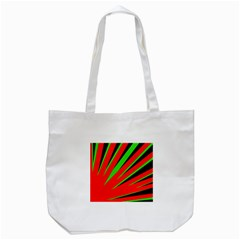 Rays Light Chevron Red Green Black Tote Bag (white) by Mariart