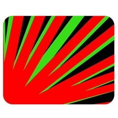 Rays Light Chevron Red Green Black Double Sided Flano Blanket (medium)  by Mariart