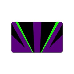 Rays Light Chevron Purple Green Black Line Magnet (name Card) by Mariart