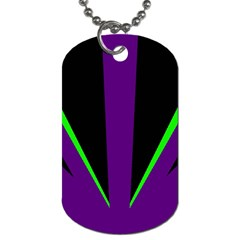 Rays Light Chevron Purple Green Black Line Dog Tag (two Sides) by Mariart