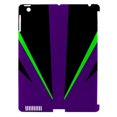 Rays Light Chevron Purple Green Black Line Apple Ipad 3/4 Hardshell Case (compatible With Smart Cover) by Mariart
