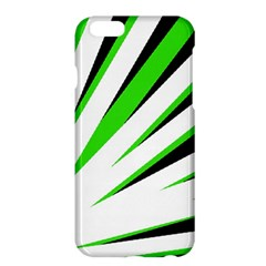 Rays Light Chevron White Green Black Apple Iphone 6 Plus/6s Plus Hardshell Case by Mariart