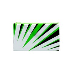 Rays Light Chevron White Green Black Cosmetic Bag (xs) by Mariart