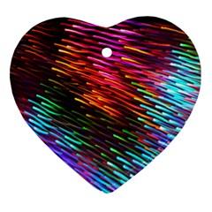 Rainbow Shake Light Line Ornament (heart) by Mariart