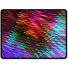 Rainbow Shake Light Line Double Sided Fleece Blanket (large)  by Mariart