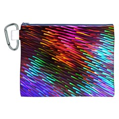Rainbow Shake Light Line Canvas Cosmetic Bag (xxl) by Mariart
