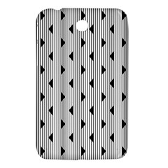 Stripes Line Triangles Vertical Black Samsung Galaxy Tab 3 (7 ) P3200 Hardshell Case  by Mariart