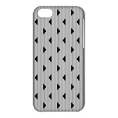Stripes Line Triangles Vertical Black Apple Iphone 5c Hardshell Case by Mariart