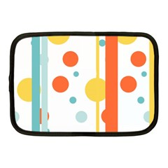 Stripes Dots Line Circle Vertical Yellow Red Blue Polka Netbook Case (medium)  by Mariart