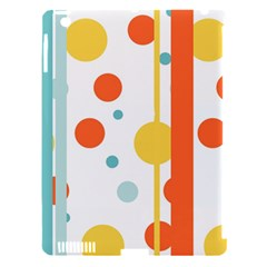 Stripes Dots Line Circle Vertical Yellow Red Blue Polka Apple Ipad 3/4 Hardshell Case (compatible With Smart Cover) by Mariart
