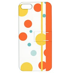 Stripes Dots Line Circle Vertical Yellow Red Blue Polka Apple Iphone 5 Hardshell Case With Stand by Mariart