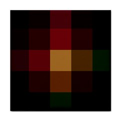 Stripes Plaid Color Tile Coasters by Mariart