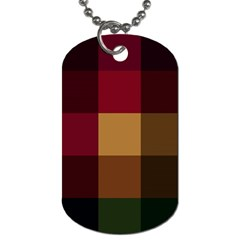 Stripes Plaid Color Dog Tag (two Sides) by Mariart