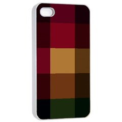Stripes Plaid Color Apple Iphone 4/4s Seamless Case (white) by Mariart