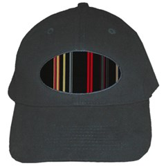 Stripes Line Black Red Black Cap by Mariart