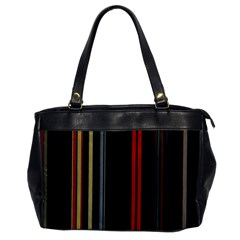Stripes Line Black Red Office Handbags by Mariart