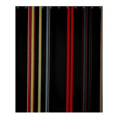 Stripes Line Black Red Shower Curtain 60  X 72  (medium)  by Mariart