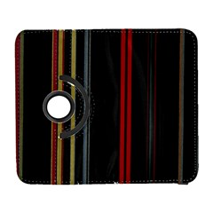 Stripes Line Black Red Galaxy S3 (flip/folio) by Mariart