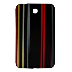 Stripes Line Black Red Samsung Galaxy Tab 3 (7 ) P3200 Hardshell Case  by Mariart