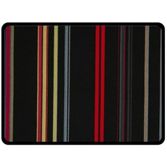 Stripes Line Black Red Double Sided Fleece Blanket (large)  by Mariart