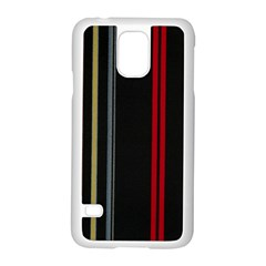 Stripes Line Black Red Samsung Galaxy S5 Case (white) by Mariart