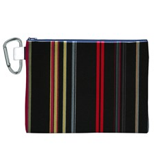 Stripes Line Black Red Canvas Cosmetic Bag (xl) by Mariart