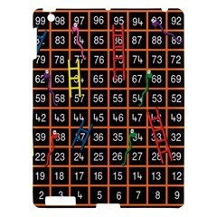 Snakes Ladders Game Plaid Number Apple Ipad 3/4 Hardshell Case by Mariart