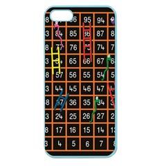 Snakes Ladders Game Plaid Number Apple Seamless Iphone 5 Case (color) by Mariart