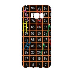 Snakes Ladders Game Plaid Number Samsung Galaxy S8 Hardshell Case