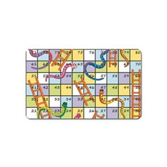 Snakes Ladders Game Board Magnet (name Card) by Mariart