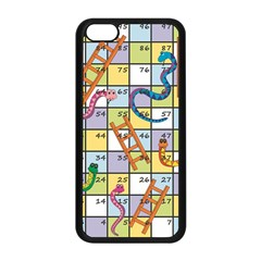 Snakes Ladders Game Board Apple Iphone 5c Seamless Case (black) by Mariart
