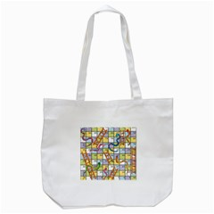 Snakes Ladders Game Board Tote Bag (white) by Mariart