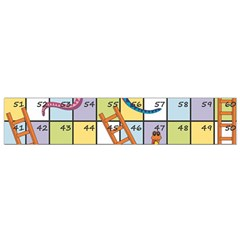 Snakes Ladders Game Board Flano Scarf (small) by Mariart