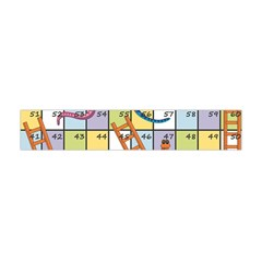 Snakes Ladders Game Board Flano Scarf (mini) by Mariart
