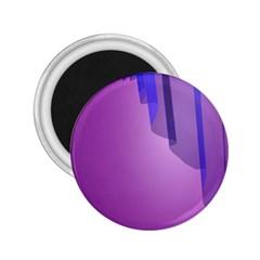 Verre Bleu Wave Chevron Waves Purple 2 25  Magnets by Mariart