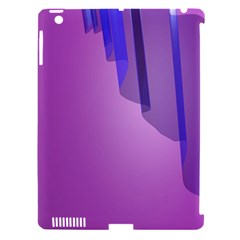Verre Bleu Wave Chevron Waves Purple Apple Ipad 3/4 Hardshell Case (compatible With Smart Cover) by Mariart