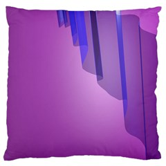 Verre Bleu Wave Chevron Waves Purple Standard Flano Cushion Case (two Sides) by Mariart