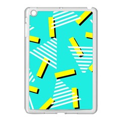 Vintage Unique Graphics Memphis Style Geometric Triangle Line Cube Yellow Green Blue Apple Ipad Mini Case (white) by Mariart