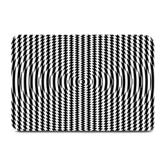 Vertical Lines Waves Wave Chevron Small Black Plate Mats by Mariart