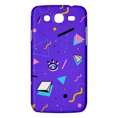 Vintage Unique Graphics Memphis Style Geometric Style Pattern Grapic Triangle Big Eye Purple Blue Samsung Galaxy Mega 5 8 I9152 Hardshell Case  by Mariart