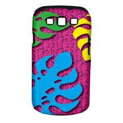 Vintage Unique Graphics Memphis Style Geometric Leaf Green Blue Yellow Pink Samsung Galaxy S Iii Classic Hardshell Case (pc+silicone) by Mariart