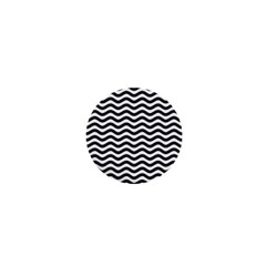 Waves Stripes Triangles Wave Chevron Black 1  Mini Buttons by Mariart